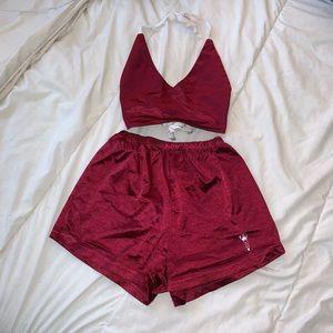 Other - Maroon silk pajama set